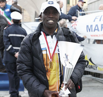 Geoffrey Gikuni Ndungu complets the Florence Marathon in second place