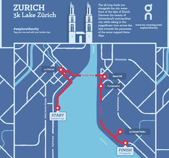 Explore Zürich with On's insider running maps.