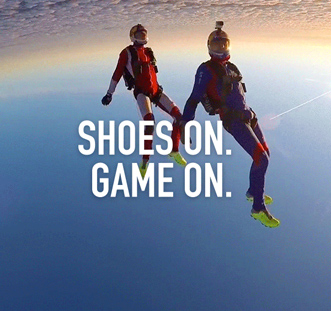 Crush the limits: Shoes On. Game On.