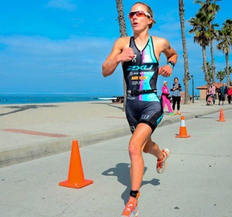 Podium for Lesley Paterson at Oceanside