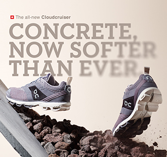 Concrete, now softer than ever with the new Cloudcruiser.